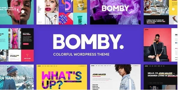 Bomby - 35+ TOP Color Schemes WordPress Theme [year]