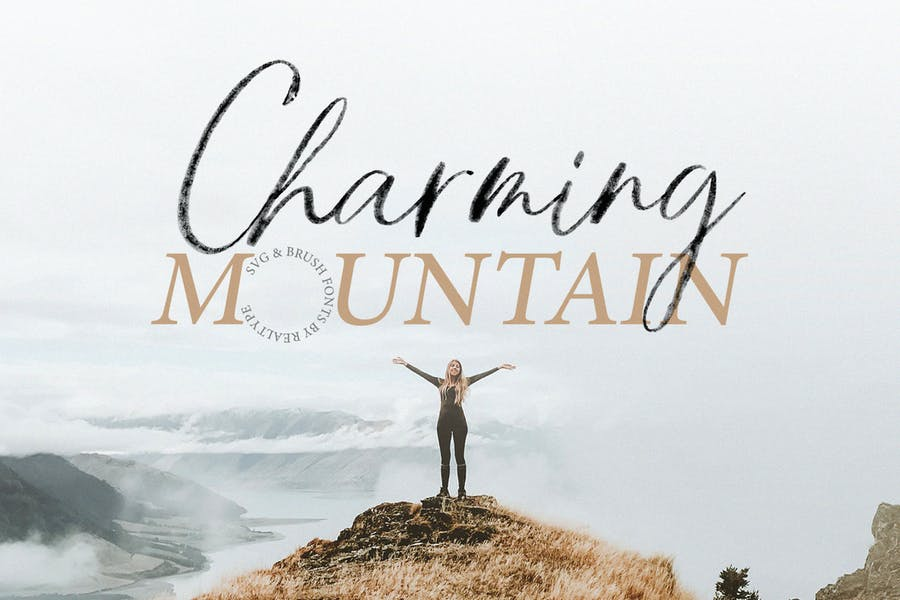 Charming-Mountain - 38+ COOL Opentype SVG Fonts [year]