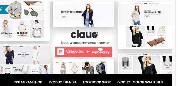 Claue - 53+ Pretty Ecommerce WordPress Themes [year]