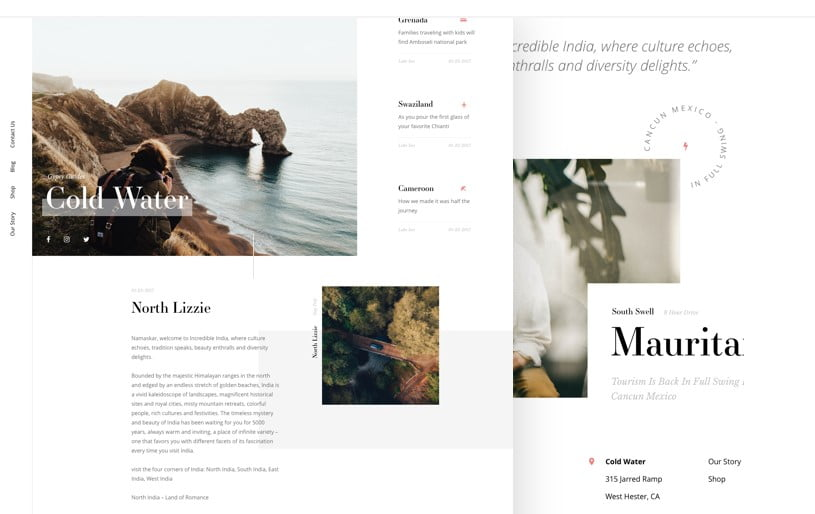 Cold-Water-Blog - 63+ FREE NICE Blog Layout Designs IDEA [year]