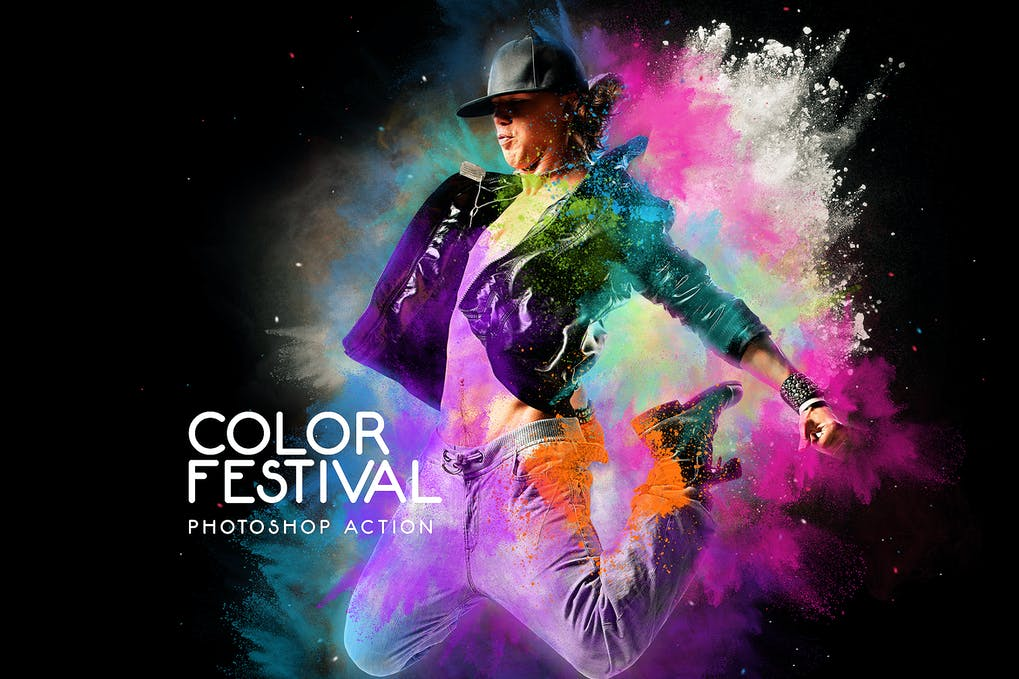 Color-Festival-Photoshop-Action - 50+ BEST Photo Editing Photoshop Actions [year]
