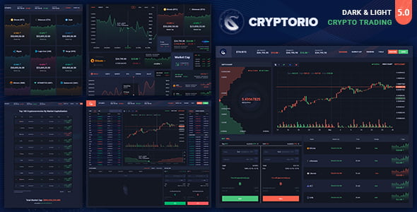 Cryptorio - 38+ BEST Dashboard PSD & Sketch Templates [year]