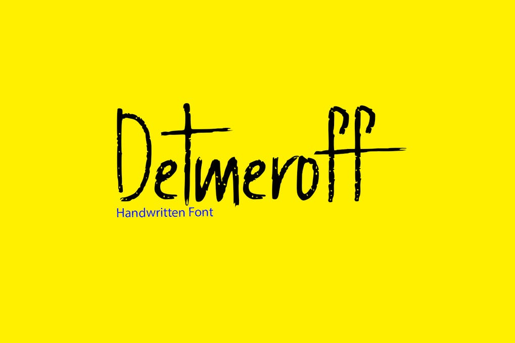 Detmeroff - 50+ BEST Typography Logo Fonts [year]