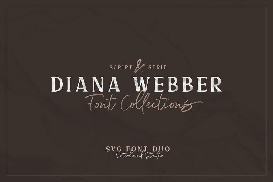 Diana-Webberb - 38+ COOL Opentype SVG Fonts [year]