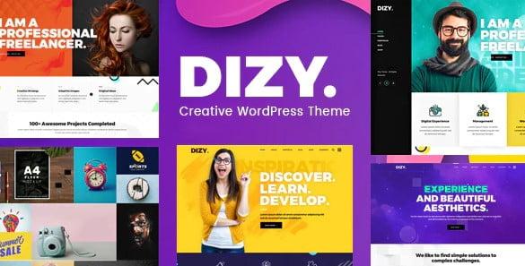 Dizy - 35+ TOP Color Schemes WordPress Theme [year]