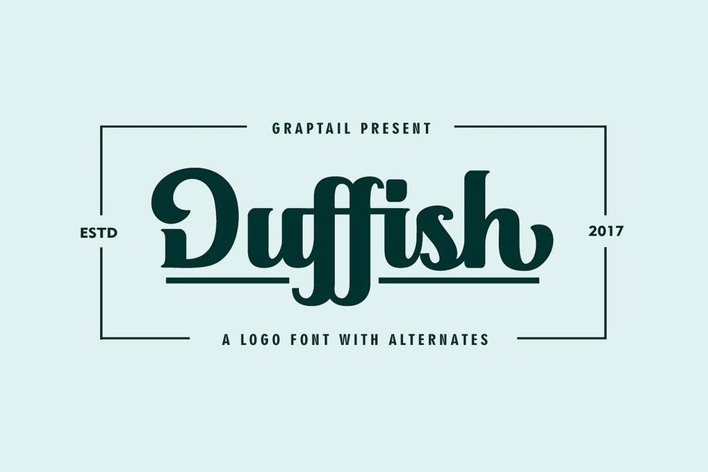 Duffish - 50+ BEST Typography Logo Fonts [year]