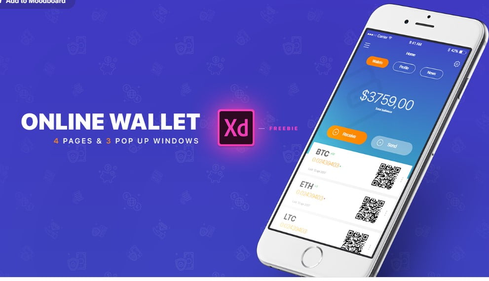 E-Wallet - 53+ BEST FREE Adobe XD Web & Mobile Kits [year]