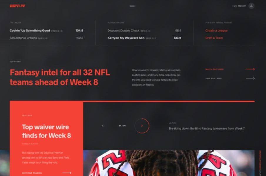 ESPN-Fantasy - 63+ FREE NICE Blog Layout Designs IDEA [year]