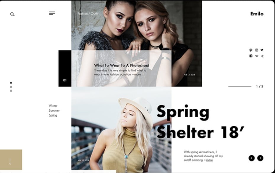 Emilo-Fashion - 63+ FREE NICE Blog Layout Designs IDEA [year]