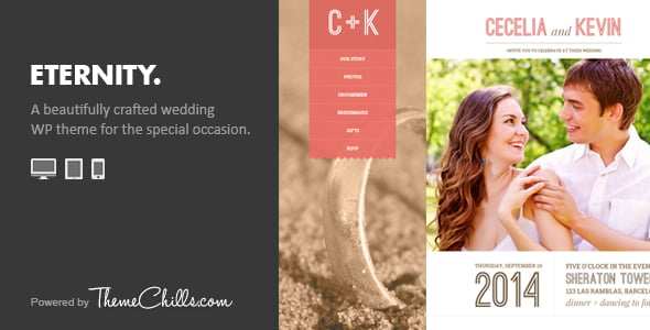Eternity - 35+ GREAT Wedding Invitation WordPress Themes [year]