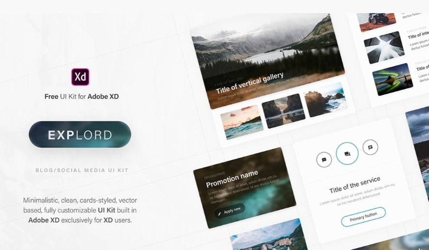 Explord - 53+ BEST FREE Adobe XD Web & Mobile Kits [year]