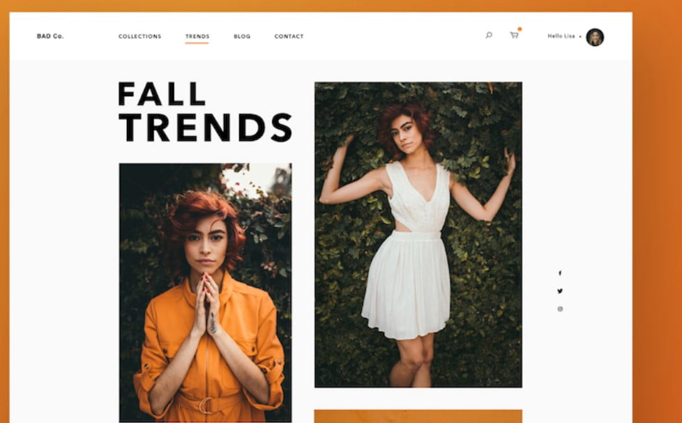 Fall-Fashion - 63+ FREE NICE Blog Layout Designs IDEA [year]