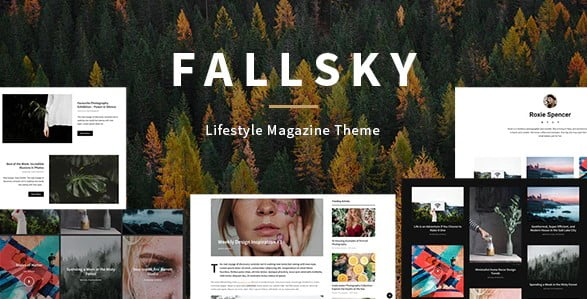 Fallsky - 35+ TOP Color Schemes WordPress Theme [year]