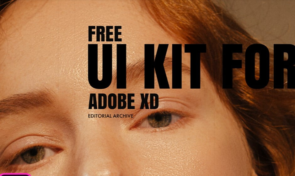 Fashion-Editorial - 53+ BEST FREE Adobe XD Web & Mobile Kits [year]