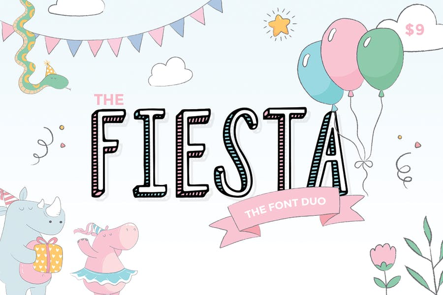 Fiesta-Font-Duo - 38+ COOL Opentype SVG Fonts [year]