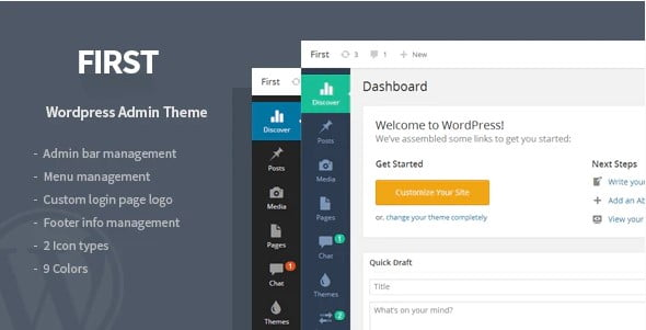 First - 33+ BEST FREE WordPress Admin UI Themes [year]
