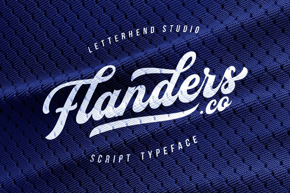 Flanders-Script - 50+ BEST Typography Logo Fonts [year]