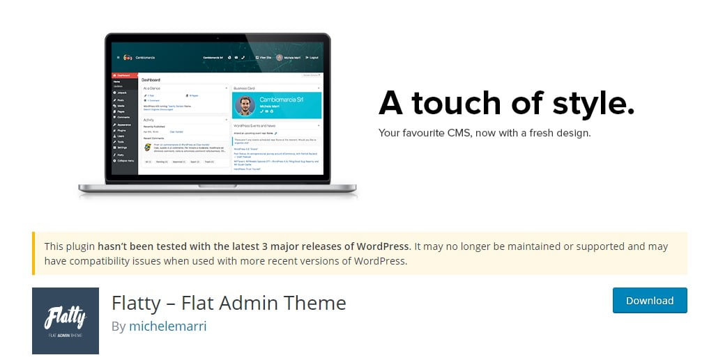 Flatty - 33+ BEST FREE WordPress Admin UI Themes [year]