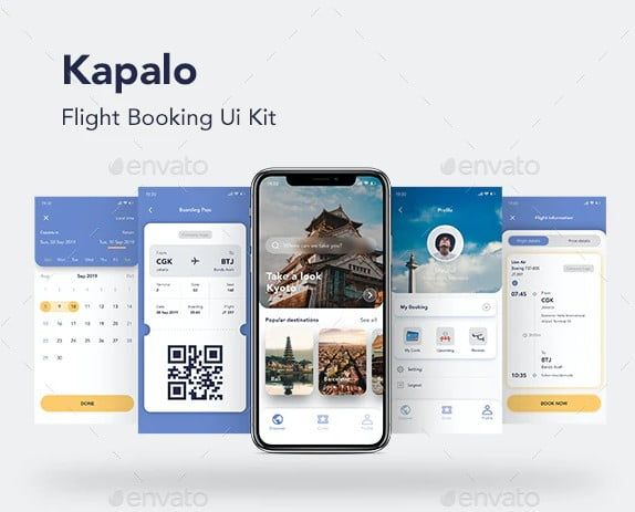 Flight-Booking-App - 53+ BEST FREE Adobe XD Web & Mobile Kits [year]