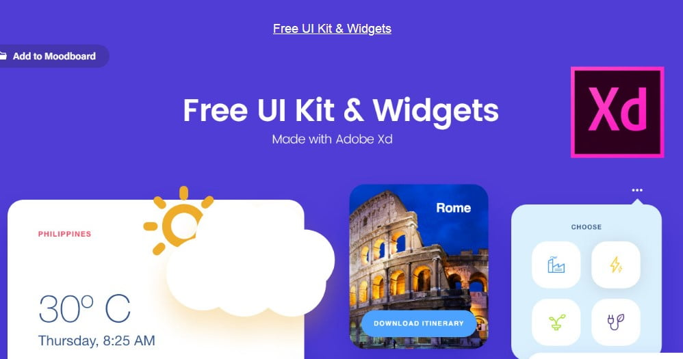 Free-UI-Kit - 53+ BEST FREE Adobe XD Web & Mobile Kits [year]
