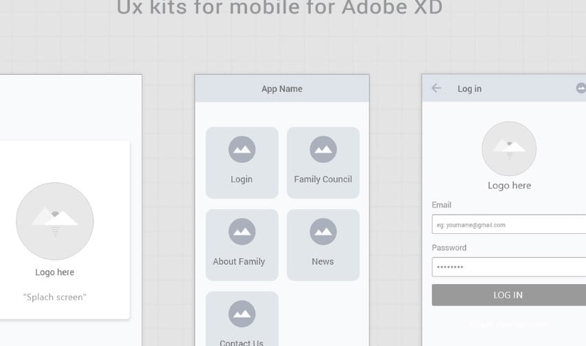 Free-wireframe-kits - 53+ BEST FREE Adobe XD Web & Mobile Kits [year]