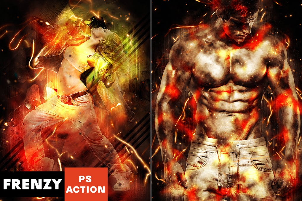Frenzy-Photoshop-Action - 50+ BEST Photo Editing Photoshop Actions [year]