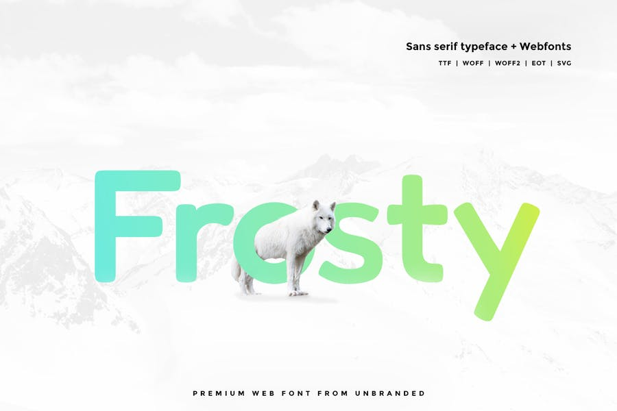 Frosty - 38+ COOL Opentype SVG Fonts [year]