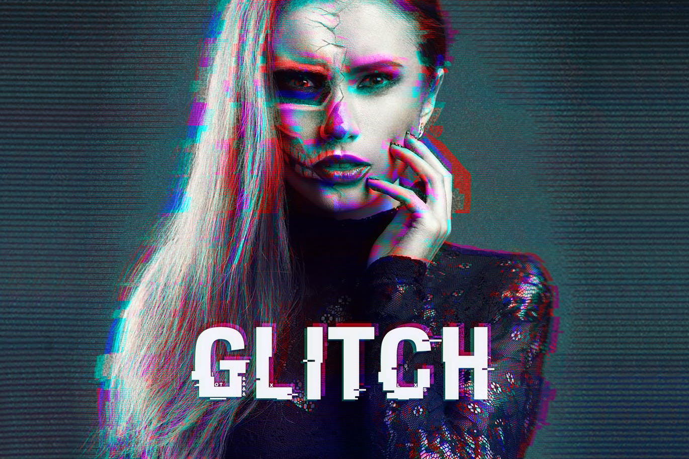 Glitch-Photoshop-Action-2 - 50+ BEST Photo Editing Photoshop Actions [year]