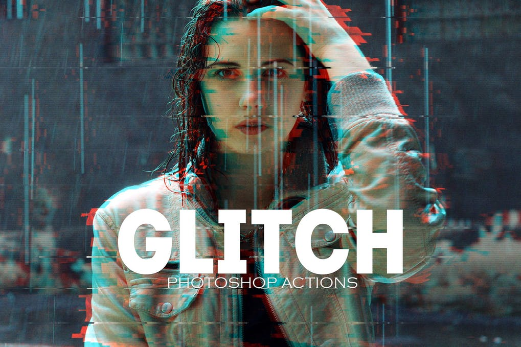 Glitch-Photoshop - 50+ BEST Photo Editing Photoshop Actions [year]