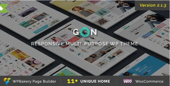 Gon - 53+ Pretty Ecommerce WordPress Themes [year]