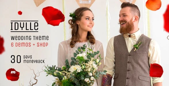 Idylle - 35+ GREAT Wedding Invitation WordPress Themes [year]