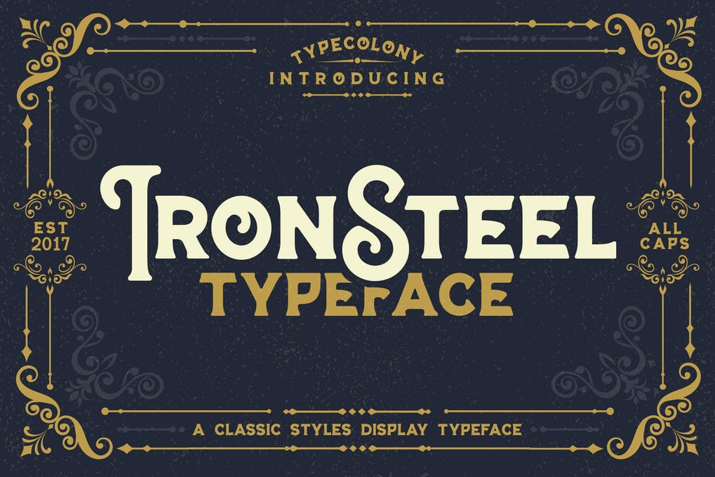 Iron-Steel - 50+ BEST Typography Logo Fonts [year]