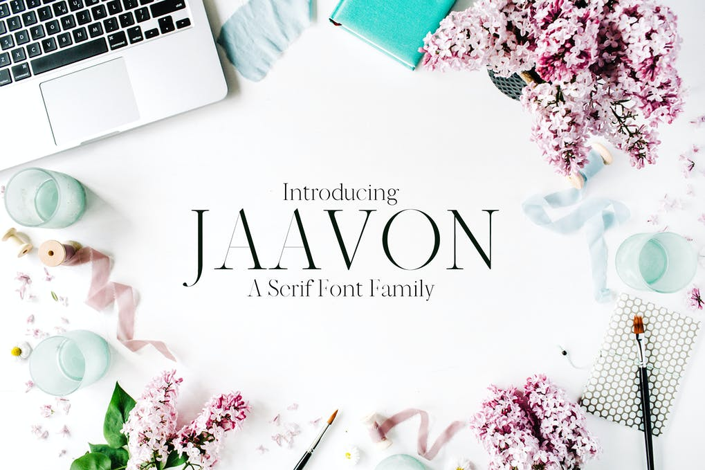 Jaavon-Serif-Font-Family - 50+ BEST Typography Logo Fonts [year]