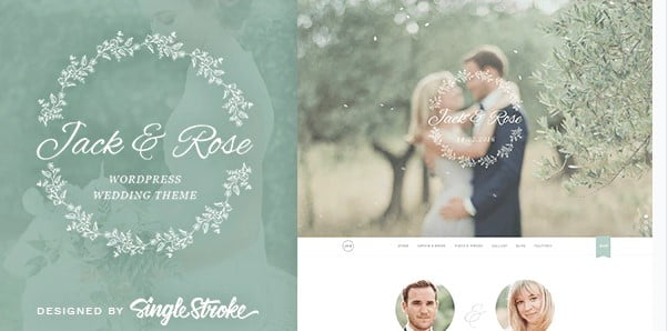 Jack-Rose - 35+ GREAT Wedding Invitation WordPress Themes [year]