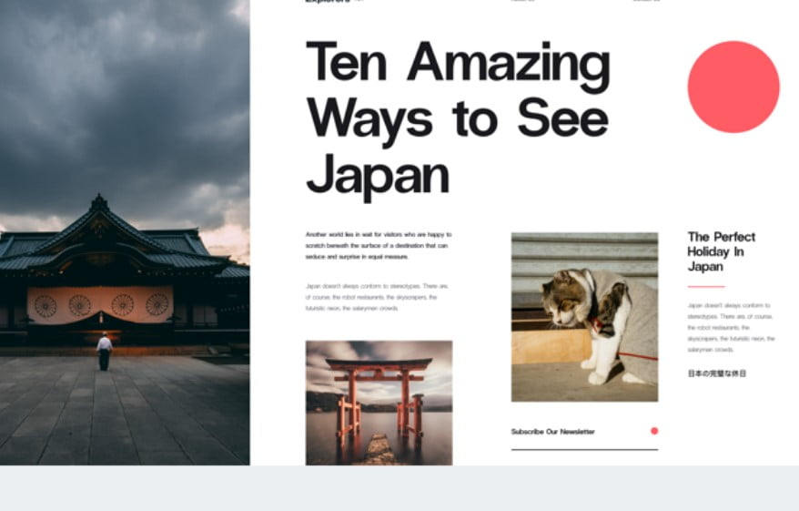 Japan - 63+ FREE NICE Blog Layout Designs IDEA [year]
