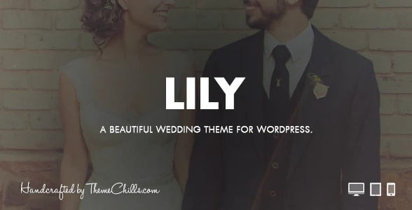 Lily - 35+ GREAT Wedding Invitation WordPress Themes [year]