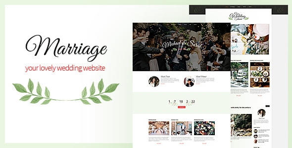 Marriage - 35+ GREAT Wedding Invitation WordPress Themes [year]