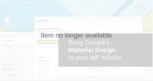 Material-WP - 33+ BEST FREE WordPress Admin UI Themes [year]