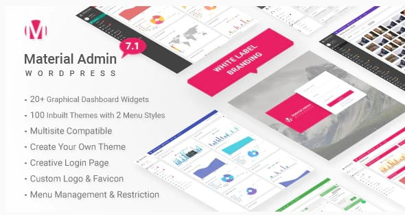 Material - 33+ BEST FREE WordPress Admin UI Themes [year]