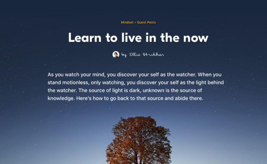 Meditation-app-blog-post - 63+ FREE NICE Blog Layout Designs IDEA [year]