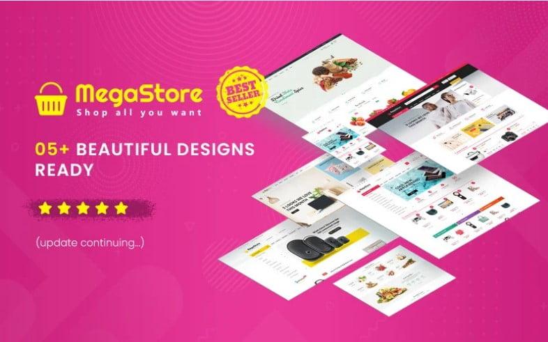 MegaStore - 53+ Pretty Ecommerce WordPress Themes [year]