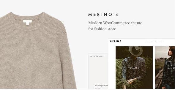 Merino - 53+ Pretty Ecommerce WordPress Themes [year]