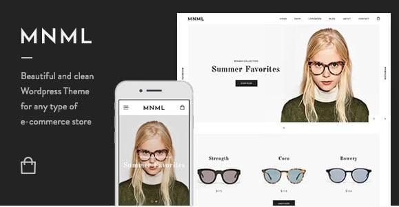Mnml - 53+ Pretty Ecommerce WordPress Themes [year]