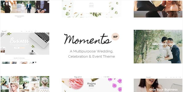 Moments - 35+ GREAT Wedding Invitation WordPress Themes [year]