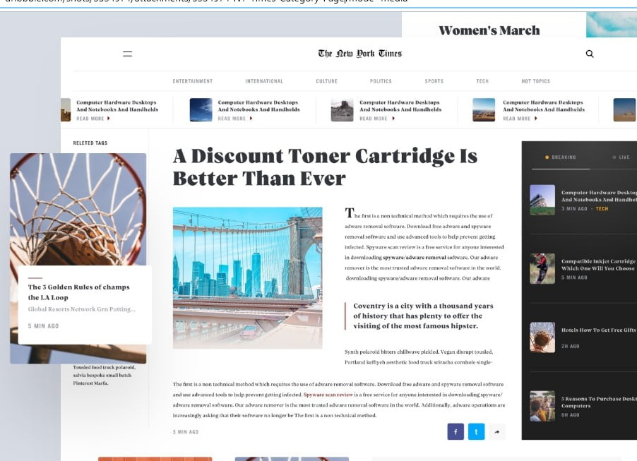 NY-Times - 63+ FREE NICE Blog Layout Designs IDEA [year]