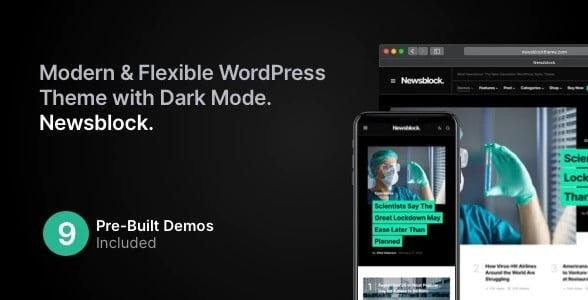 Newsblock - 35+ TOP Color Schemes WordPress Theme [year]