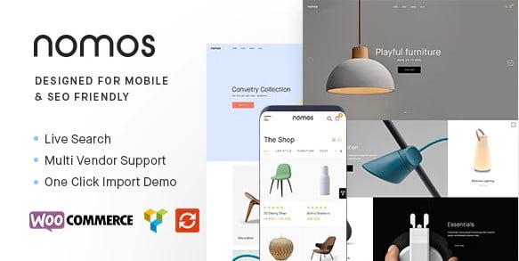 Nomos - 53+ Pretty Ecommerce WordPress Themes [year]