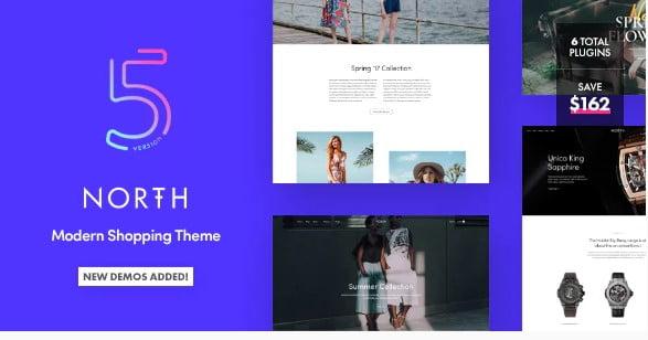North - 53+ Pretty Ecommerce WordPress Themes [year]