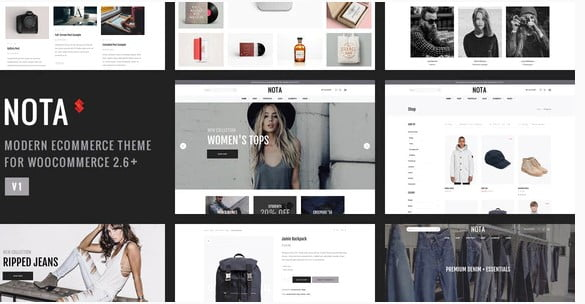 Nota - 53+ Pretty Ecommerce WordPress Themes [year]