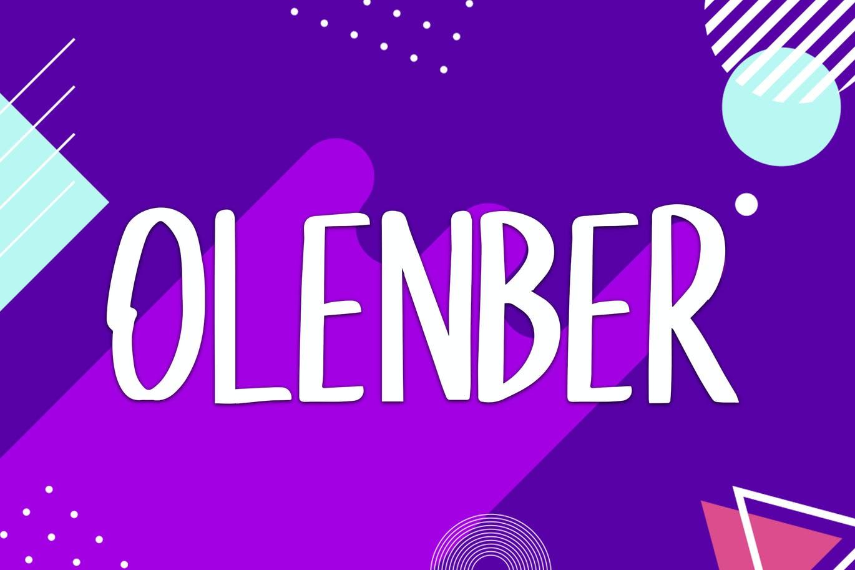 Olenber-Font - 50+ BEST Typography Logo Fonts [year]